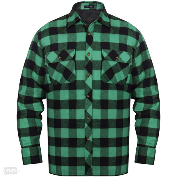 i-vidaxl-meska-ocieplana-koszula-flanelowa-w-zielono-czarna-krate-rozmiar-l