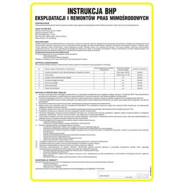 instrukcja-bhp-pras mimośrodowej