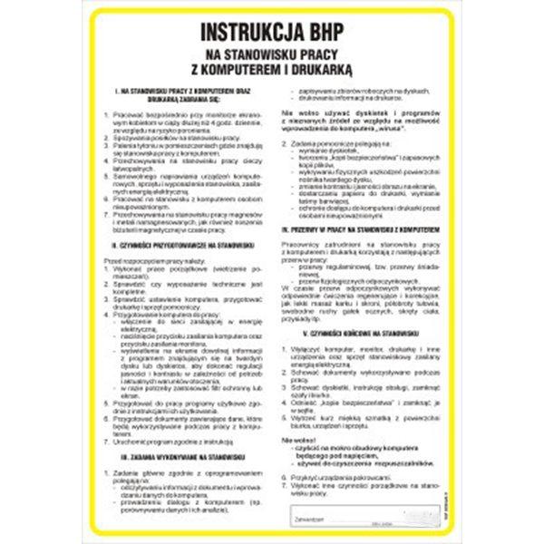 instrukcja-bhp-przy-obsl komputera i drukarki